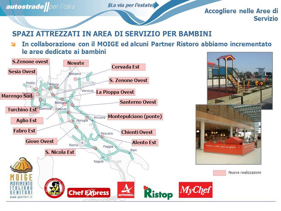 La via per lestate S.Zenone ovest In collaborazione con il MOIGE ed alcuni Partner Ristoro abbiamo incrementato le aree dedicate ai bambini Giove Oves