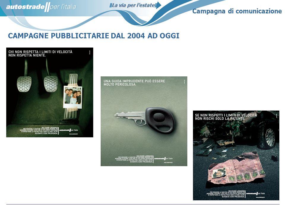 La via per lestate CAMPAGNE PUBBLICITARIE DAL 2004 AD OGGI Campagna di comunicazione