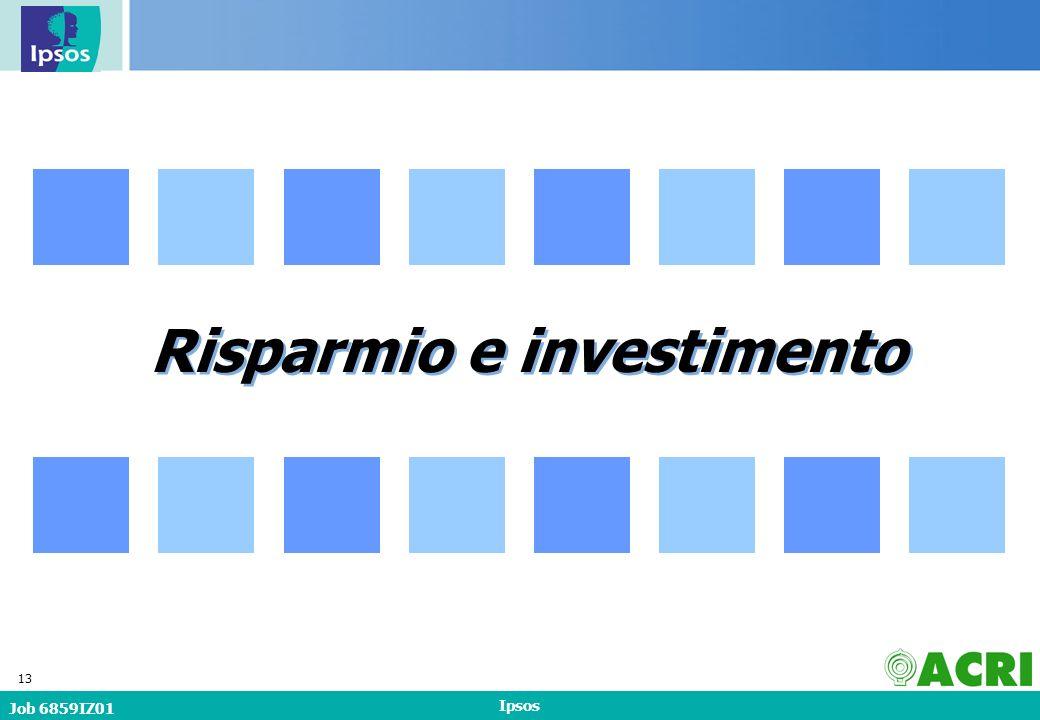 Job 6859IZ01 Ipsos 13 Risparmio e investimento