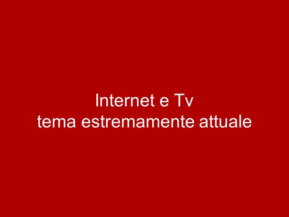 Internet e Tv tema estremamente attuale PASSATO PRESENTE CONVERGENZA