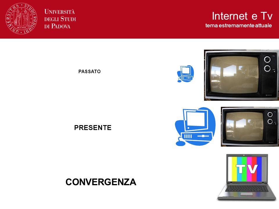 La competizione tra consumo televisivo e consumo di internet si modifica in favore di una fusione dei due mezzi.