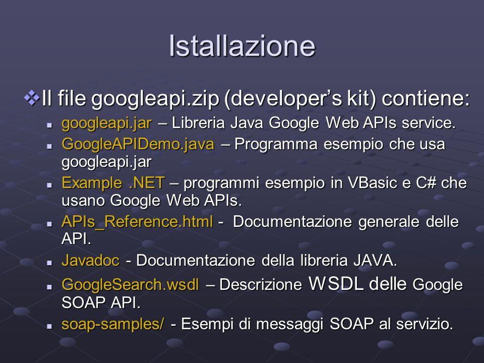WSDL e SOAP WSDL: WSDL: Web Services Description Language Web Services Description Language The standard format for describing a web service.