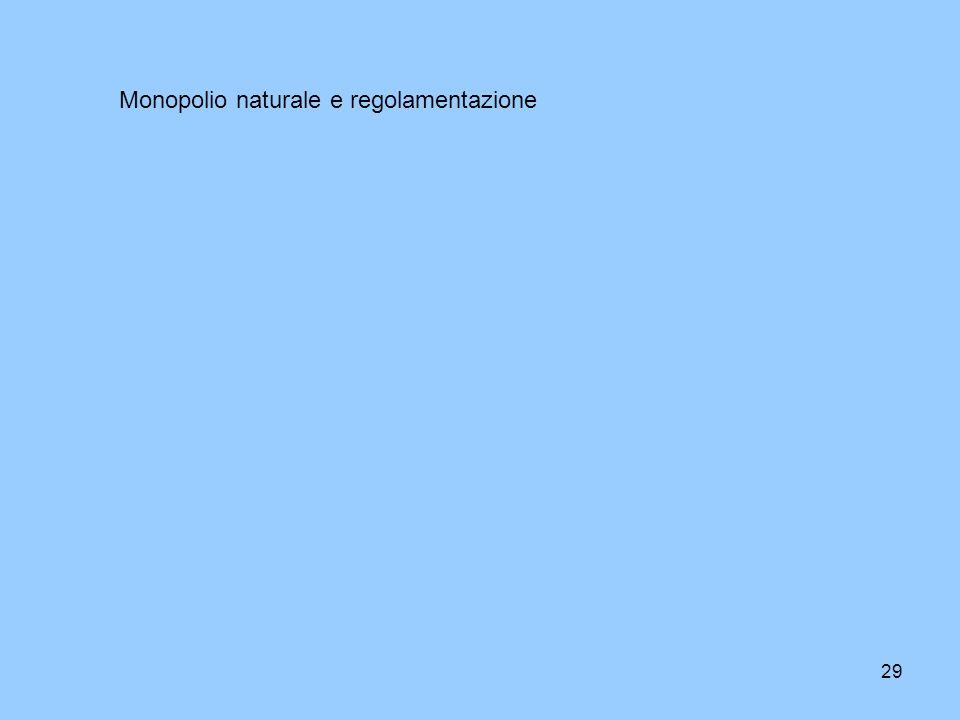 29 Monopolio naturale e regolamentazione