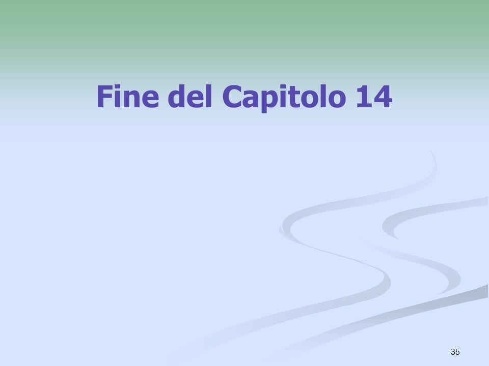 35 Fine del Capitolo 14
