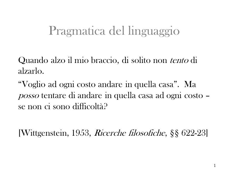 2 Pragmatica del linguaggio Sintassi = studio del segno in se stesso.