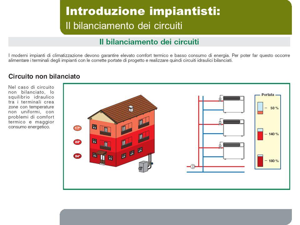 Introduzione impiantisti: Il bilanciamento dei circuiti