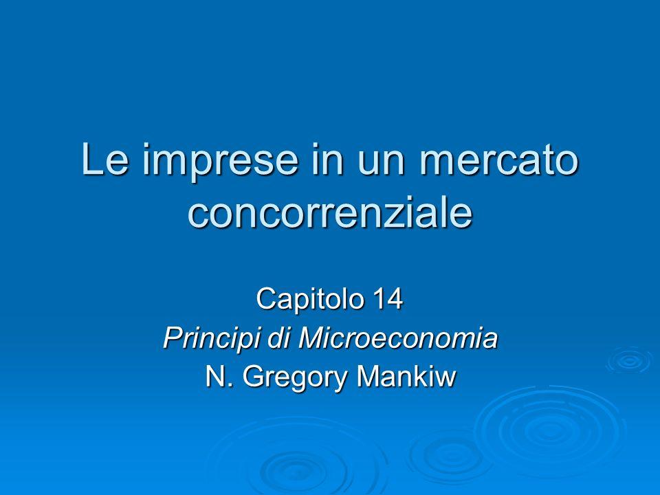 Le imprese in un mercato concorrenziale Capitolo 14 Principi di Microeconomia N. Gregory Mankiw