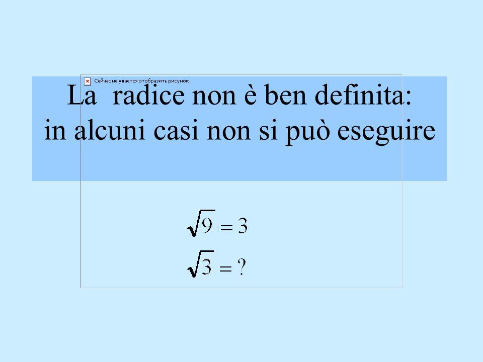 Le operazioni in Q Laddizione, la sottrazione, la moltiplicazione e la divisione sono operazioni ben definite in Q (il risultato è sempre un numero ra