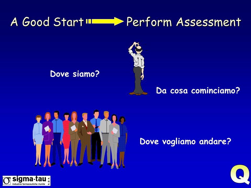A Good Start Perform Assessment Dove siamo? Dove vogliamo andare? Da cosa cominciamo?