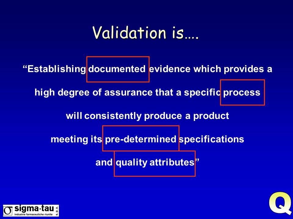 Current Validation is the entire procedure of gathering documented evidence that a computer-related process or a system performs according to its intended function reliably and consistently throughout its life.