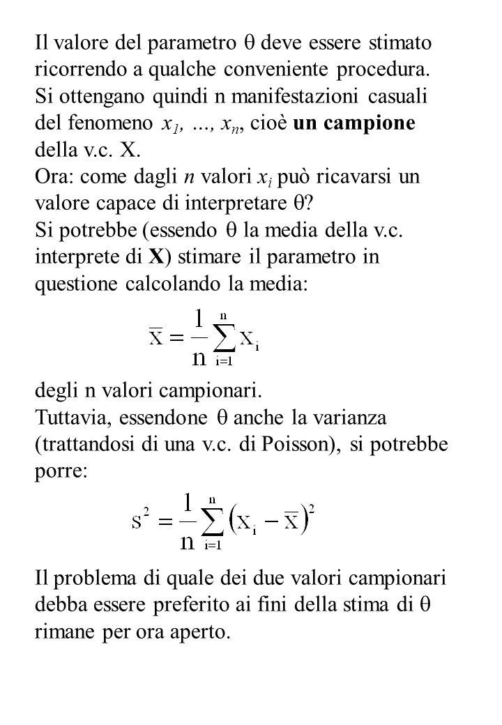 Ora: il fenomeno X viene ritenuto interpretabile con una v.c.