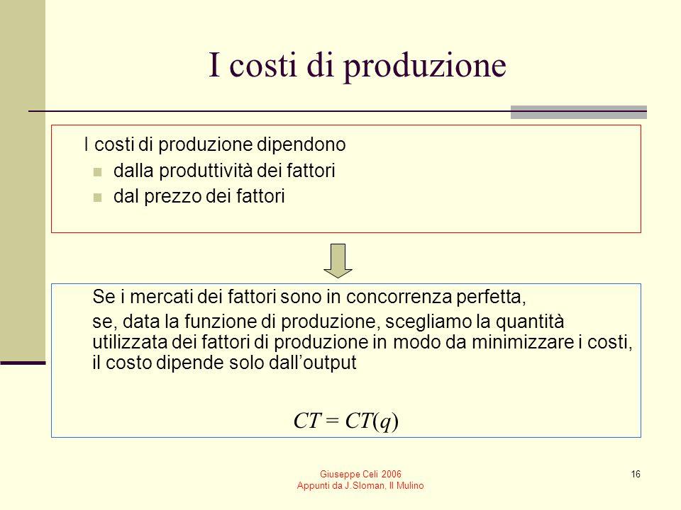 Giuseppe Celi 2006 Appunti da J.Sloman, Il Mulino 15 Il saggio (tecnico) marginale di sostituzione Ci dice di quanto deve aumentare la quantità utiliz