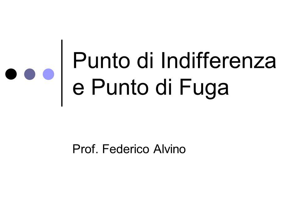 Punto di Indifferenza e Punto di Fuga Prof. Federico Alvino