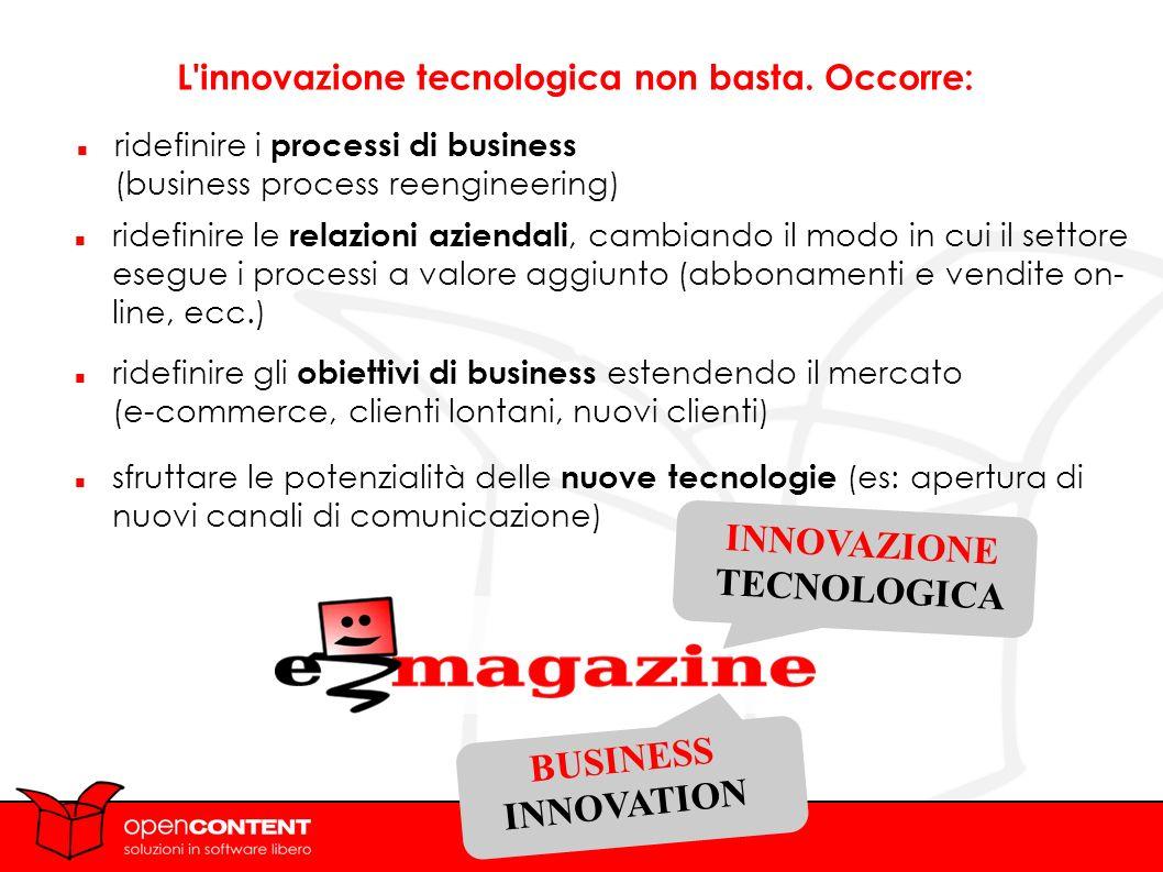 L innovazione tecnologica non basta.