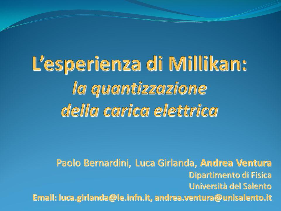 Paolo Bernardini, Luca Girlanda, Andrea Ventura Dipartimento di Fisica Università del Salento Email: luca.girlanda@le.infn.it, andrea.ventura@unisalen