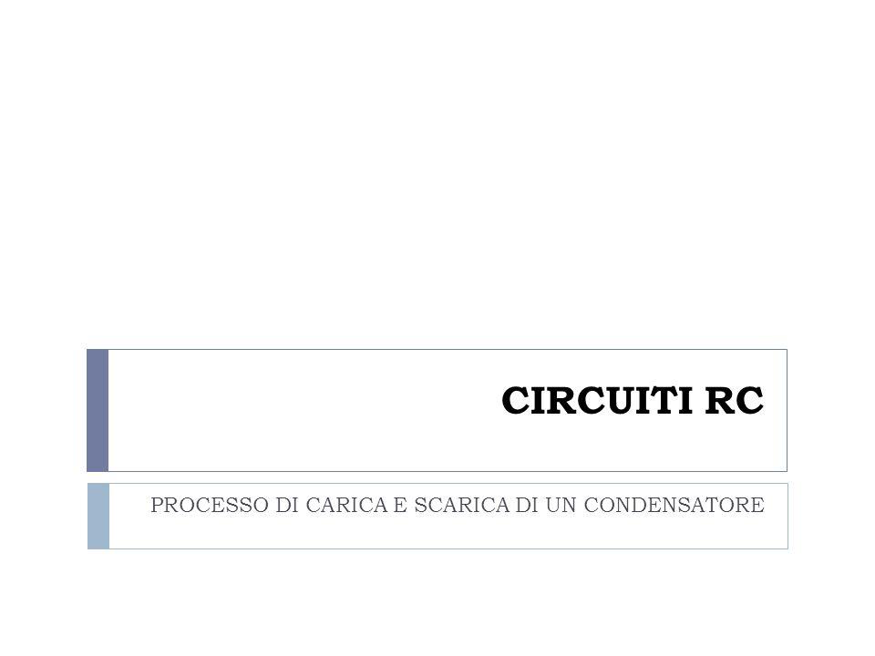 CIRCUITI RC PROCESSO DI CARICA E SCARICA DI UN CONDENSATORE