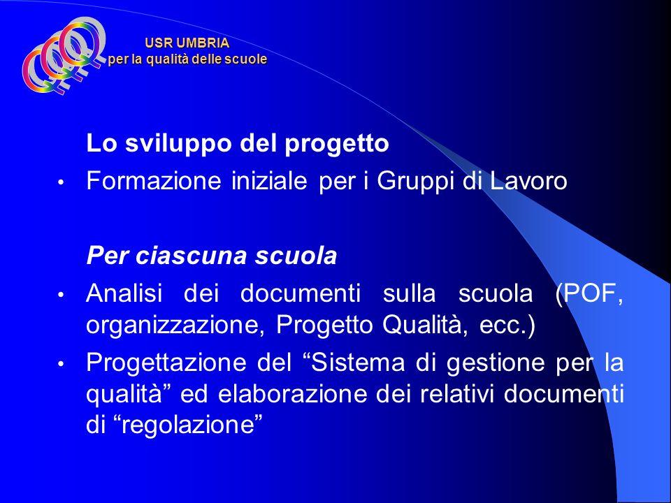 USR UMBRIA per la qualità delle scuole Obiettivi del progetto ottenere la certificazione di conformità da un Organismo accreditato, per avere un ricon