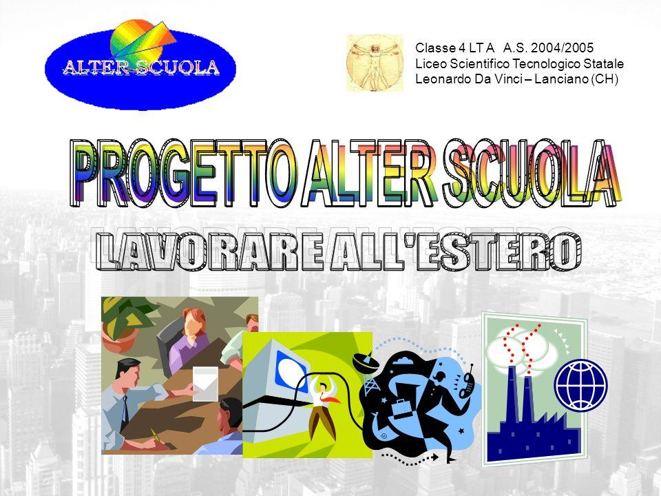 Classe 4 LT A A.S. 2004/2005 Liceo Scientifico Tecnologico Statale Leonardo Da Vinci – Lanciano (CH)