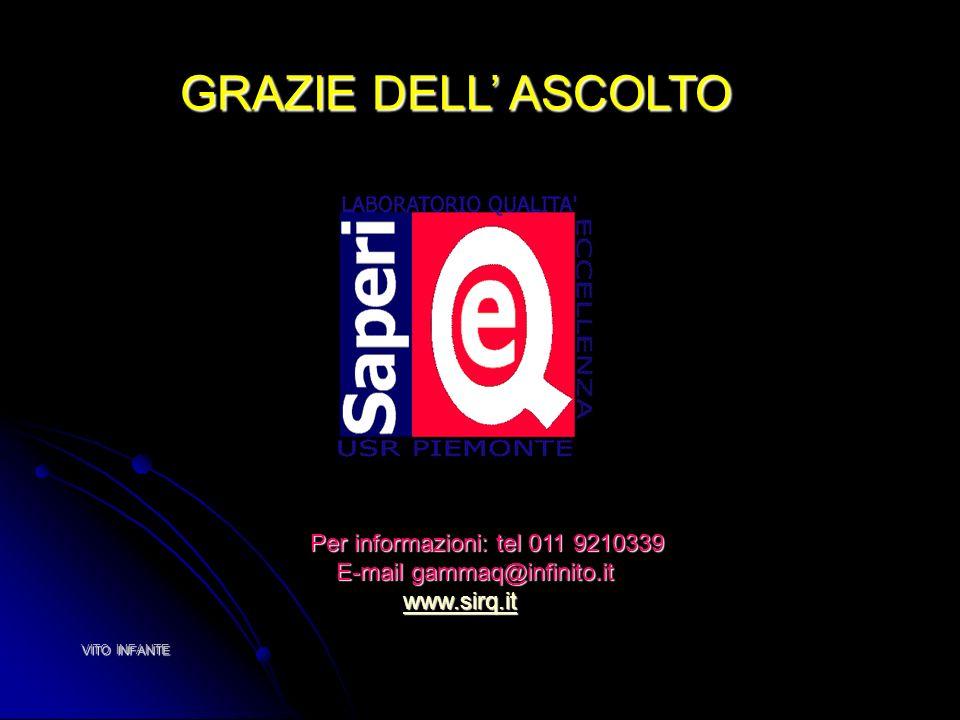VITO INFANTE Per informazioni: tel 011 9210339 Per informazioni: tel 011 9210339 E-mail gammaq@infinito.it E-mail gammaq@infinito.it www.sirq.it www.s