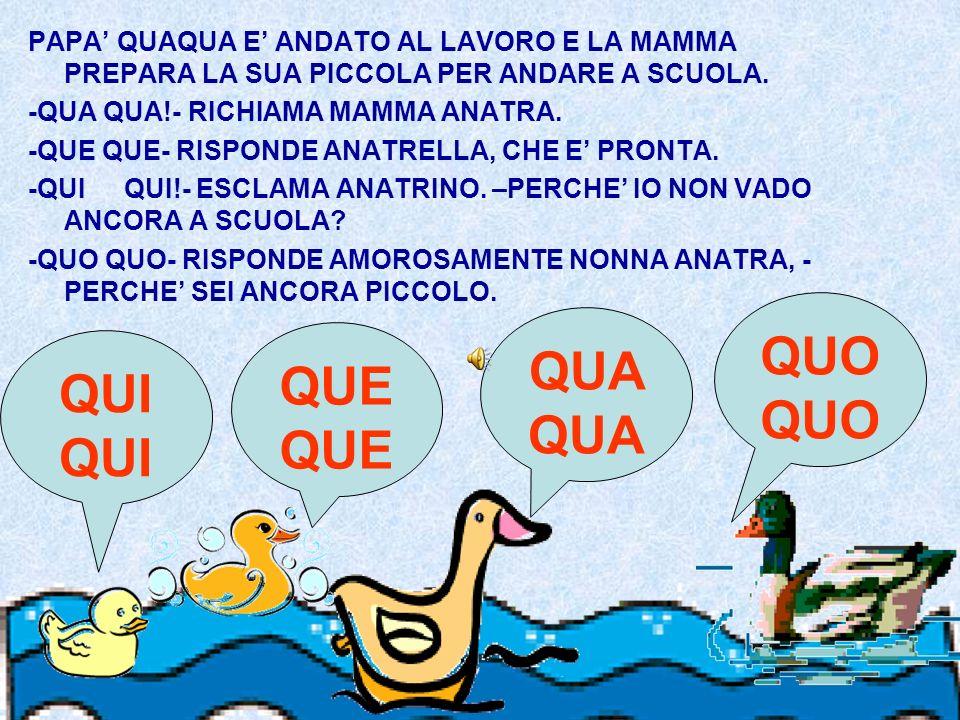 PAPA QUAQUA E ANDATO AL LAVORO E LA MAMMA PREPARA LA SUA PICCOLA PER ANDARE A SCUOLA.