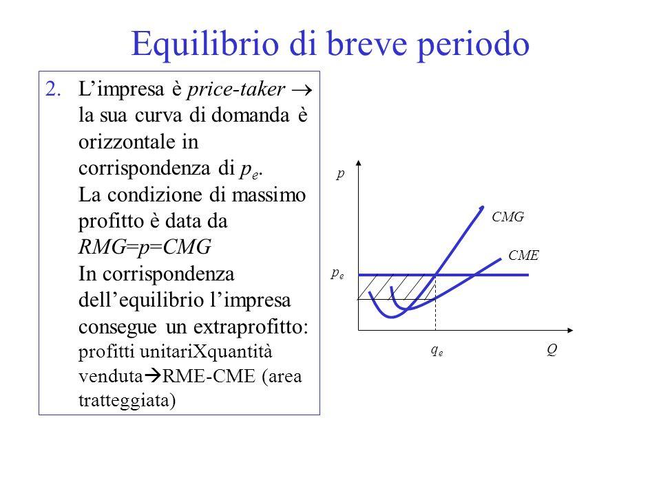 La relazione tra costo totale, costo medio e marginale CMG è decrescente fino a che il costo totale aumenta in modo meno che proporzionale al crescere