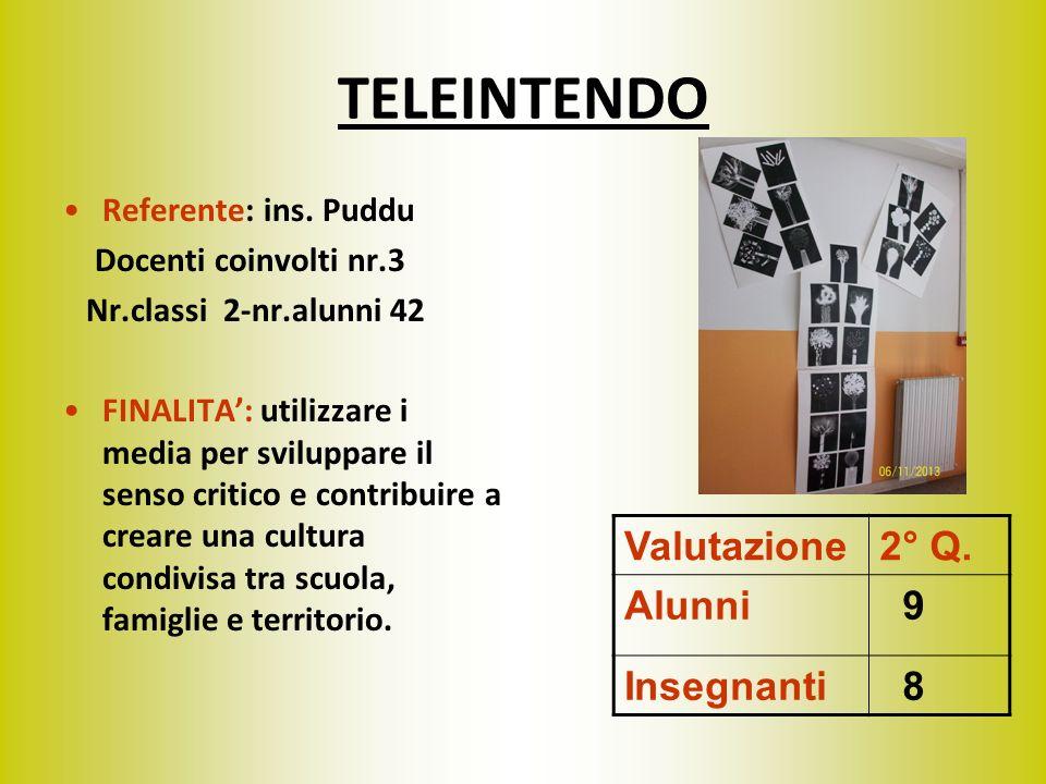 TELEINTENDO Referente: ins. Puddu Docenti coinvolti nr.3 Nr.classi 2-nr.alunni 42 FINALITA: utilizzare i media per sviluppare il senso critico e contr