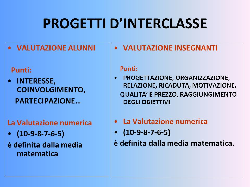CLASSI PRIME : ACCOGLIENZA (associazione.