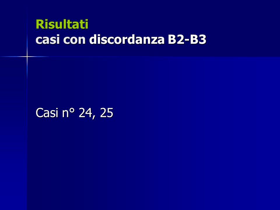 Risultati casi con discordanza B2-B3 Casi n° 24, 25