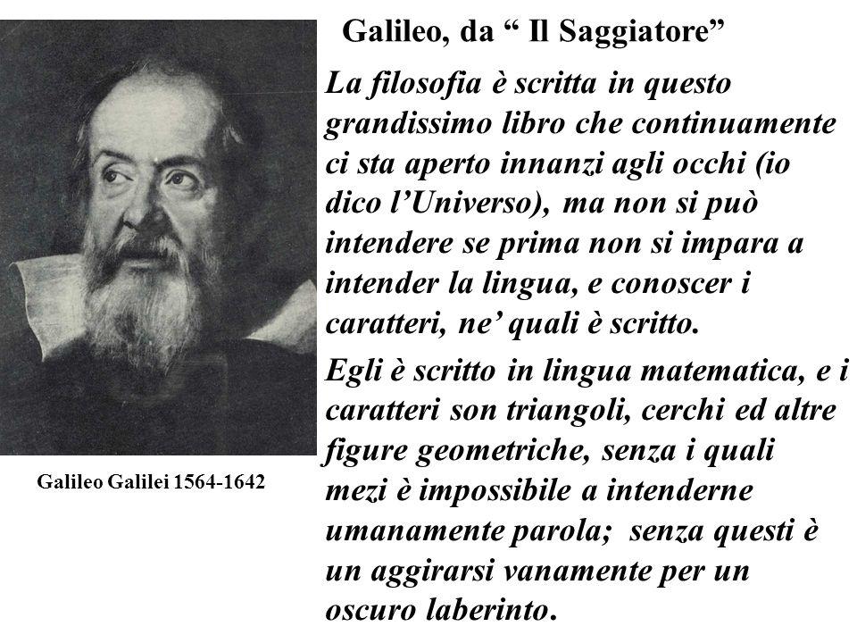 Galileo Galilei 1564-1642 La filosofia è scritta in questo grandissimo libro che continuamente ci sta aperto innanzi agli occhi (io dico lUniverso), m
