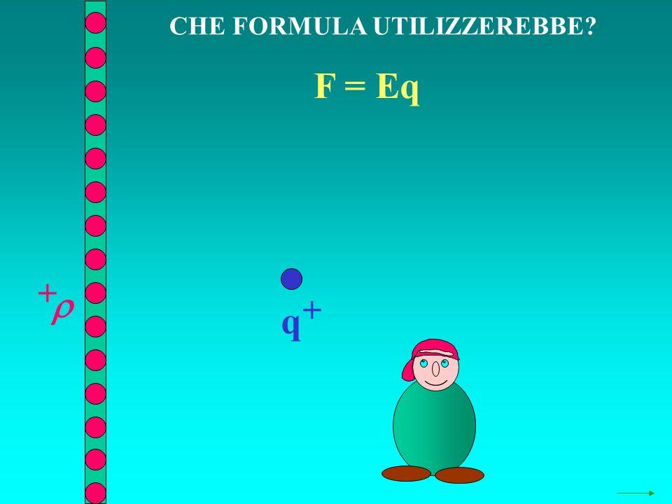 CHE FORMULA UTILIZZEREBBE? q + + F = Eq