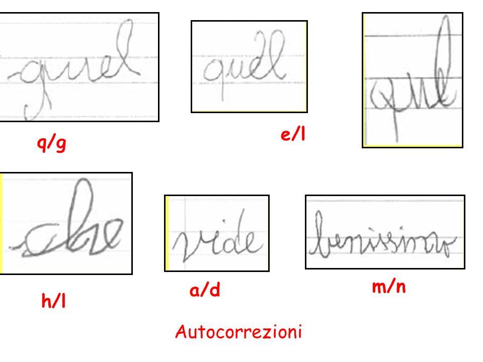 q/g e/l h/l a/d m/n Autocorrezioni