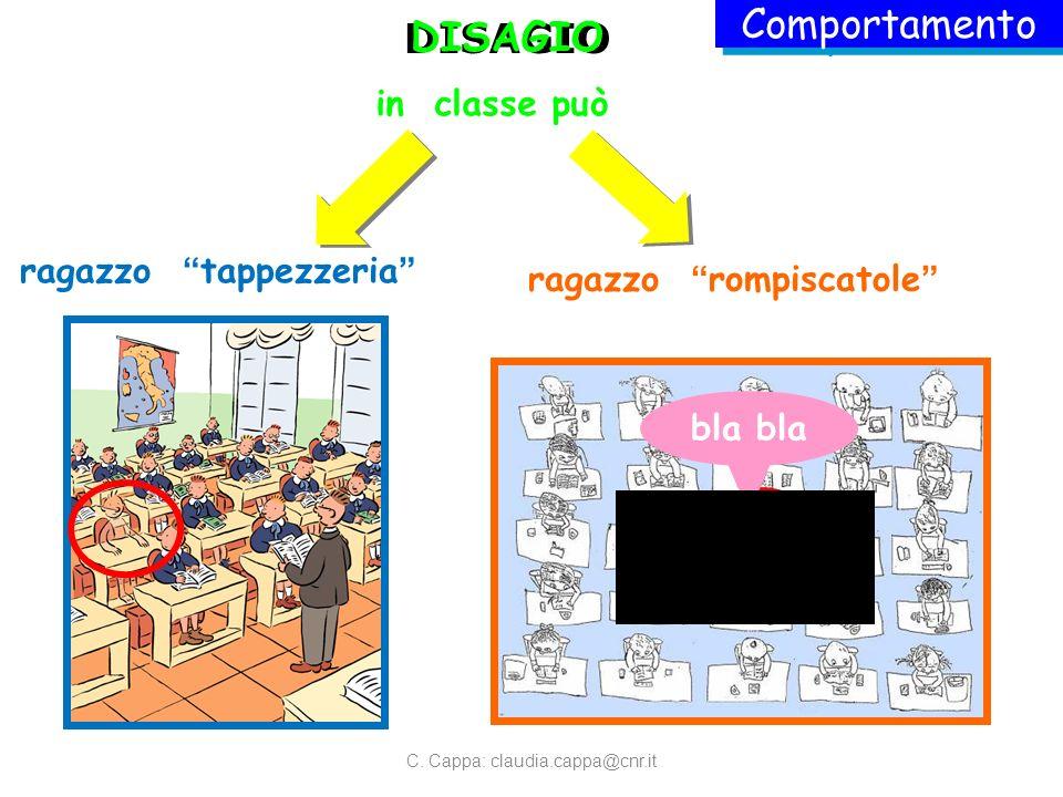 DISAGIO bla DISAGIO in classe può ragazzo tappezzeria ragazzo rompiscatole Comportamento C.