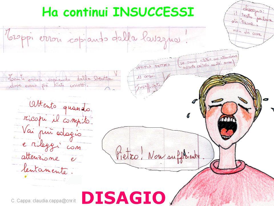 DISAGIO Ha continui INSUCCESSI C. Cappa: claudia.cappa@cnr.it