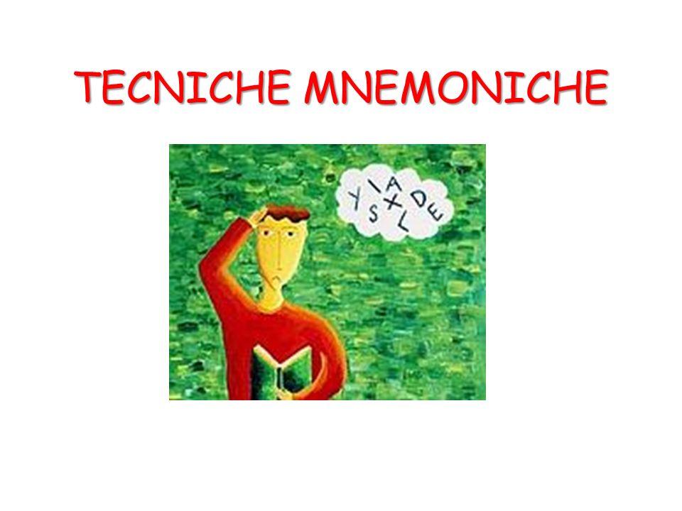 TECNICHE MNEMONICHE