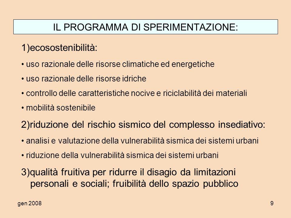 gen 200820 Temi sperimentali: suddivisione per comune