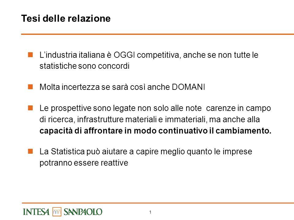 0 X Conferenza Nazionale di Statistica Statistica 2.0: vivere linnovazione al servizio della società Sessione La competitività del sistema produttivo italiano: effetto statistico o realtà economica.