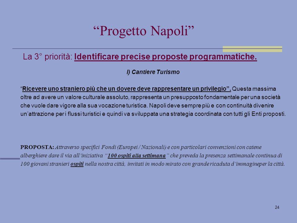 24 La 3° priorità: Identificare precise proposte programmatiche.