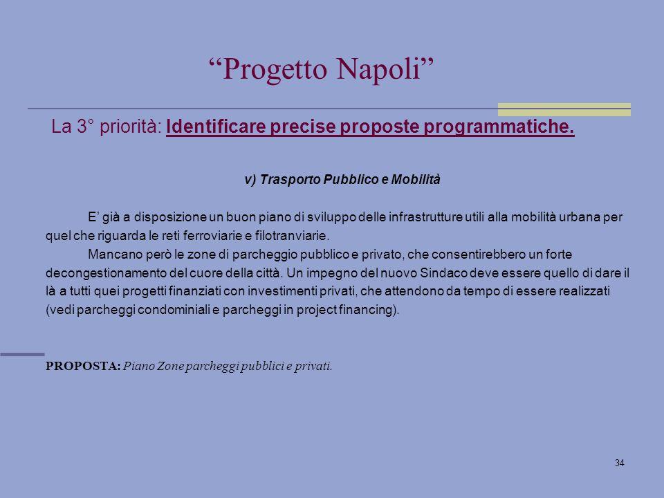 34 La 3° priorità: Identificare precise proposte programmatiche.