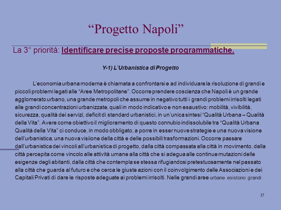 37 La 3° priorità: Identificare precise proposte programmatiche.