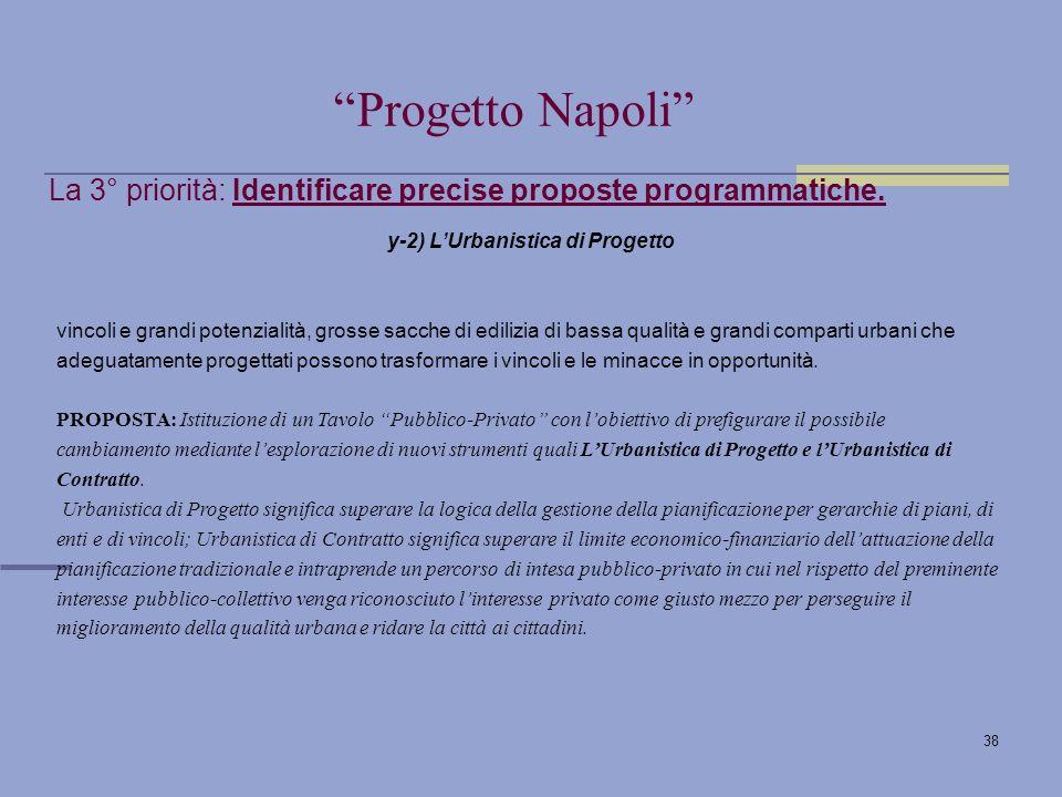 38 La 3° priorità: Identificare precise proposte programmatiche.