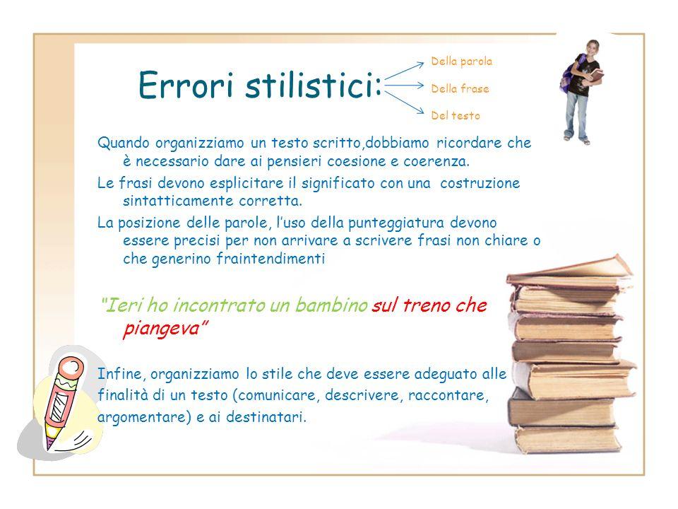 Step 2: Analisi degli errori ERRORE OrtograficoLessicaleMorfologicoSintattico Errori degli alunni stranieri sintattico ortografico lessicale morfologi