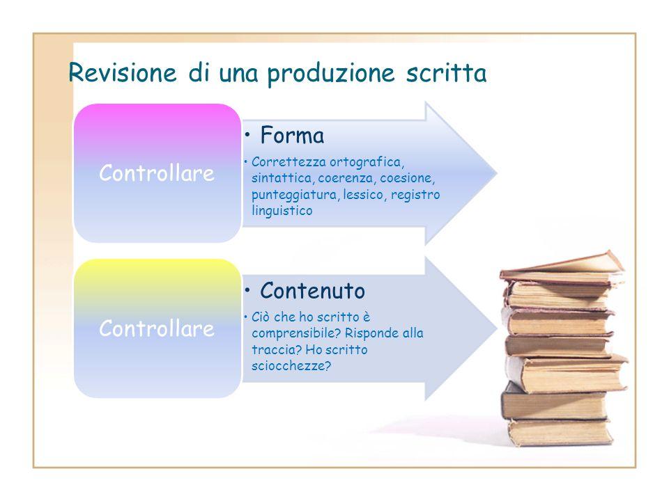 Step 6:Revisione di una produzione scritta Dopo aver concluso qualsiasi produzione scritta, il lavoro più difficile è effettuare una revisione e ricop