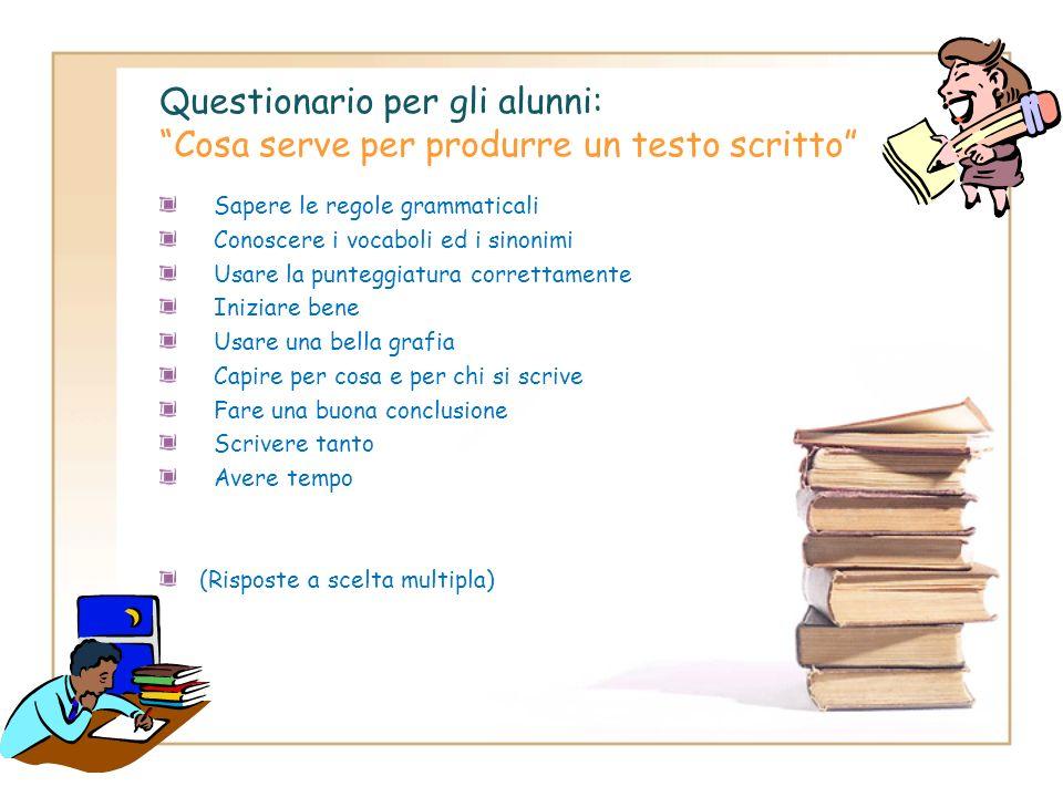 Step 7: Questionari di valutazione/autovalutazione In itinere si prevede la somministrazione di alcuni questionari per gli alunni e per i docenti, al