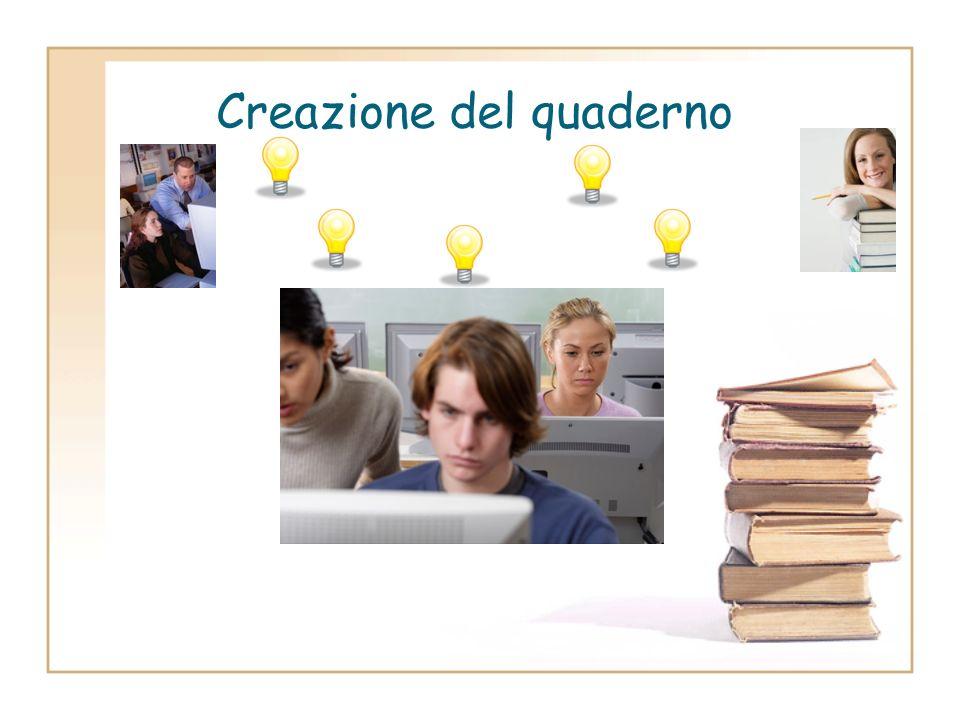 Creazione del quaderno