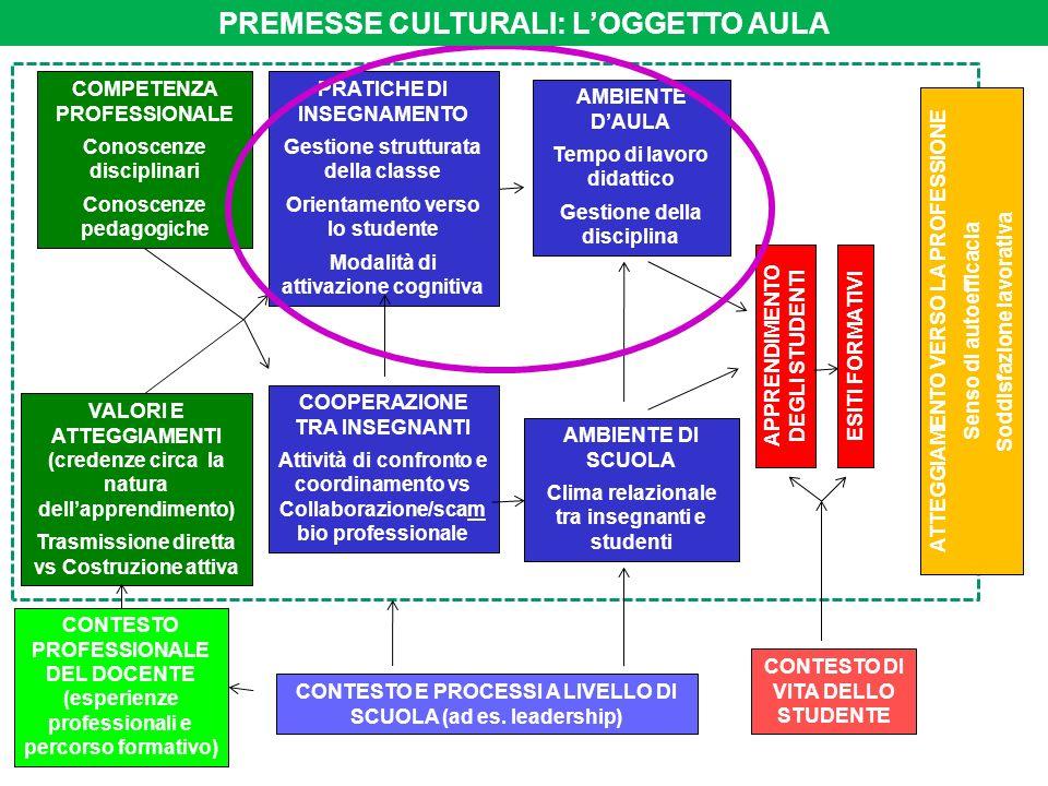 COMPETENZA PROFESSIONALE Conoscenze disciplinari Conoscenze pedagogiche VALORI E ATTEGGIAMENTI (credenze circa la natura dellapprendimento) Trasmissio