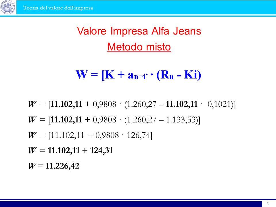 W = [11.102,11 + 0,9808 · (1.260,27 – 11.102,11 · 0,1021)] W = [11.102,11 + 0,9808 · (1.260,27 – 1.133,53)] W = [11.102,11 + 0,9808 · 126,74] W = 11.1