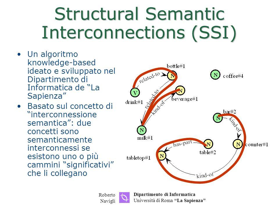 Dipartimento di Informatica Università di Roma La Sapienza Roberto Navigli Salvataggio del grafo visualizzato in formato SVG Formato SVG (Scalable Vector Graphics) W3C: www.w3.org/TR/SVG/ Adobe SVG viewer: http://www.adobe.com/svg/ Potete basarvi su JGraphPad, che carica e salva SVG www.jgraph.com/jgraphpad.html