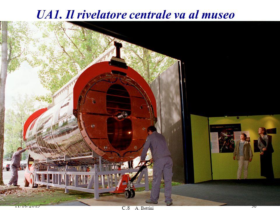 11/10/2013 C.8 A. Bettini 36 UA1. Il rivelatore centrale va al museo