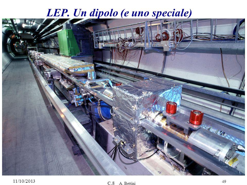 11/10/2013 C.8 A. Bettini 49 LEP. Un dipolo (e uno speciale)