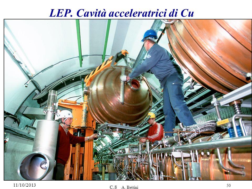 11/10/2013 C.8 A. Bettini 50 LEP. Cavità acceleratrici di Cu